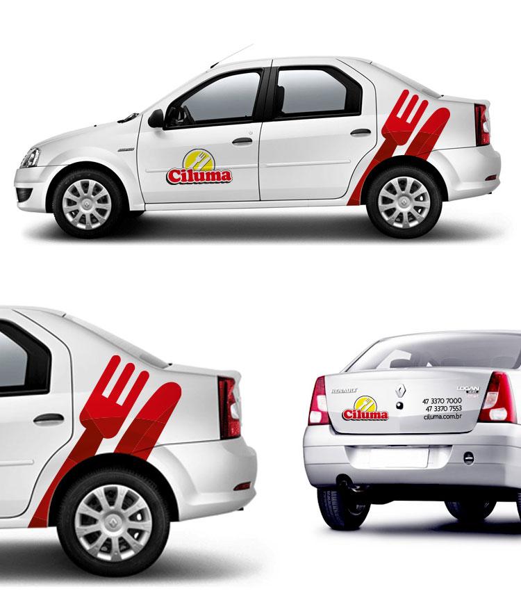 Arte para carro projeto Ciluma
