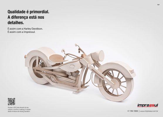 Anúncio veiculado no livro PHD (Proprietários de Harley Davidson)